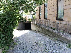 Cityhotel Bamberg - Zufahrt Tiefgarage über Willy-Lessing-Str.